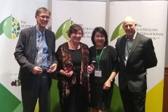Best-EVOO-of-Show-winners-W2Olives-Geoffrey-Treloar-and-Jenny-Masters-and-their-processors-Wollundry-Grove-Joo-Yee-Lieu-and-Bruce-Spinks
